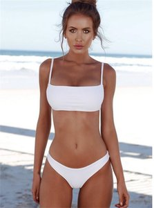 새로운 여름 여성 고체 비키니 세트 푸쉬 업 패딩되지 브라 수영복 수영복 삼각형 입욕 정장 수영복 Biquini 무료 배송