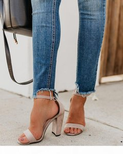 Fashion skinny hole jeans Womens Denim Ripped High Waist Stretch Slim Fit Pencil Pants Trousers