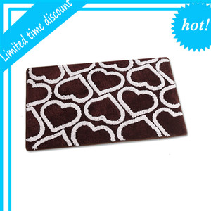 Hot Sell Polyester Printed Non-Slip Mat Bathroom
