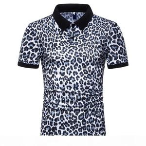 2020 Erkekler Leopar Polo Yaz Tasarımcı Erkek Günlük Moda Tişört Tees Kısa Sleeve Tops