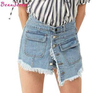 Denim Shorts Gonne Womens 2020 Estate Culottes Jeans Gonna Gonna Mini Skurt