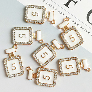 2021 Bling Bling NO5 Diy Jewelry Charms Pendants Crystal Perfume Bottle Jewelry Making Accessories Components High Quality