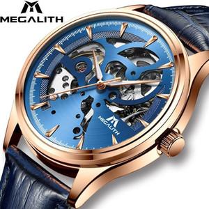 Megalith Mens Relojes Mecánica Automático Reloj Deporte Reloj de Cuero Impermeable Hombres Reloj Relojes Relojes Hombre1