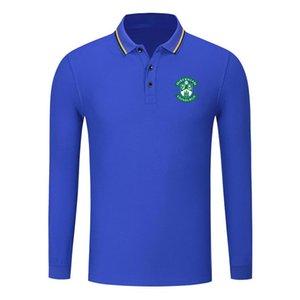 Hibernian fc pamuklu uzun kollu gömlek erkek yaka polo futbol erkekler polo gömlek eğitim forması Erkekler Polos ince polo gömlek
