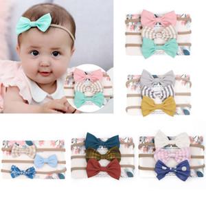 Warmom 3PCS Baby Girls DivingBack Newborn Multi Colours Bowknot Head Kids Modylers Headwear Band Band Infant Одежда Аксессуары для одежды