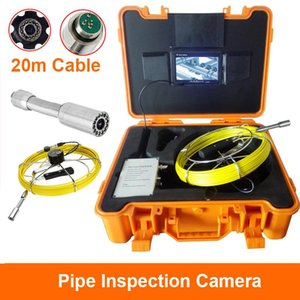 """20M Cable Reel 23MM Camera Len 7""""LCD 1000TVL Display Drain Sewer Pipeline Camera System With 12 Adjustable LED Lights And DVR"""