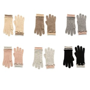 23x8.5cm Pure cashmere mitten gloves free size new model wearing in Autumn and winter knitting gloves keep warm
