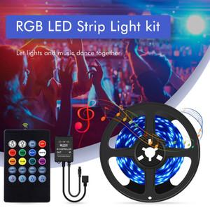 RGB LED Light Strip 5050 SMD Diode ruban flexible 5M 10M 15M 20M LED Strip Ensemble complet avec musique LED Controlle