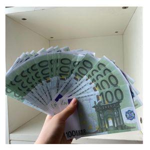 Prop 100 Euros Money Banknote Fake Play Money Euro Banknote Children Creative Gift Movie Money 100 pcs pack