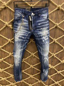 2020, the new brand fashion European and American summer men's wear jeans are men's casual jeans #A382