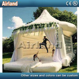 5x4x4m Inflável branco inflável que salta o castelo saltitante da casa de salto com a princesa barata da barraca Castelo inflável do salto inflável