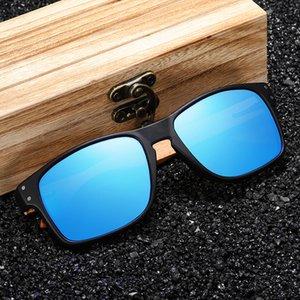 Colorful Eyewear in legno Polanized Sun Sport Occhiali Riflettente Uomo Ambientazione esterna Occhiali da sole GM Specchio GM Coatin Lonlu
