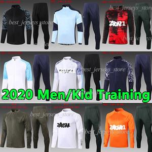 20 21 ternos de treinamento manchester Pogba Lukaku Rashford pé sportswear jaqueta de futebol correr 20 21 homens Soccer City Treino + uniformes crianças