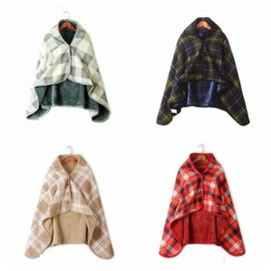 Fashion Woman Plaid Blankets Scarf Soft Check Print Multi-function Shawl Cloak Men Outdoor Winter Warm Poncho TTA1835
