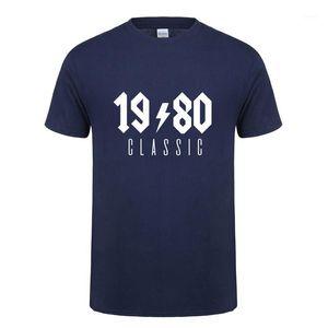 Omnitee 1980 Classic T-Shirt Tops Männer Baumwolle Kurzarm 1980 Geburtstagsgeschenk T-Shirt Mans Tshirt Oz-2241