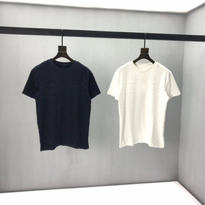 2020SS Frühling und Sommer Neue High Grad Baumwolldruck Kurzarm Rundhals Panel T-Shirt Größe: M-L-XL-XXL-XXXL Farbe: Schwarz Weiß Q62