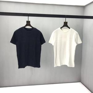 2020SS Bahar ve Yaz Yeni Yüksek Sınıf Pamuk Baskı Kısa Kollu Yuvarlak Boyun Paneli T-shirt Boyutu: M-L-XL-XXL-XXXL Renk: Siyah Beyaz Q62
