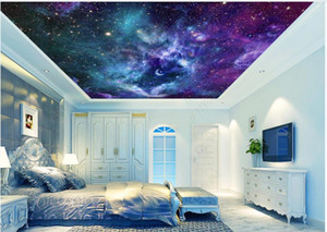 Custom photo ceiling mural wallpaper 3D zenith mural Fantasy universe starry sky living room bedroom sky ceiling zenith mural wall papers