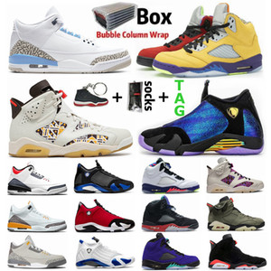 Cool Grey 3 3s What The 5 5s Hare psg 6 6s Doernbecher 14 14s Jumpman Hommes Basketball Chaussures Fire Red UNC Sports Shoe