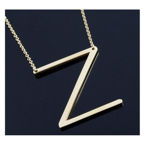 Host Sale Sideways Personalized Letter Name Initial Gold Silver Plated Stainless Steel Necklace Penda wmtUNU dh_seller2010