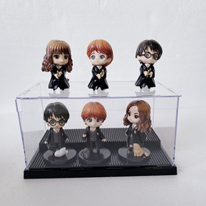 6PCS / Set QPosket Ron Weasley Granger Hermione Snape Draco Malfoy New Action Figure Dustproof Display Case Showbox 1008