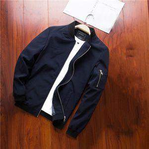 Meihuida Autumn Winter Men Business Casual Fashion Luxurious Warm Baseball Collar Slim Zipper Coat Jacket Outwear