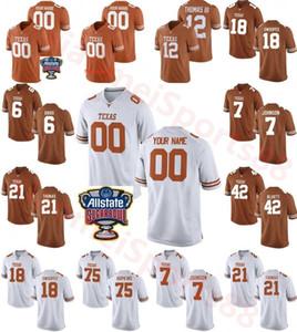 Benutzerdefinierte Texas Longhorns College Football Jersey 10 Vince Young Herren Personifizierter Neiner Name Number Nummern Genähte Zuckerschale Patch Trikots