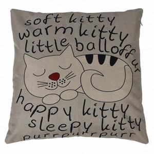 Cat Наволочка диван талии Throw Подушка Обложка Home Decor новый подарок Snag #