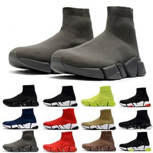 판매 최신 패션 속도 양말 2.0 망 검은 색 빨간색 흰색 노란색 FLUO 회색 남성 여성 야외 스포츠 운동화 베이지 트레이너 캐주얼 신발