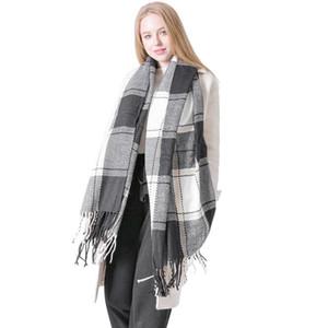 2020 mujeres de la venta Hijab invierno y del invierno de Nueva británica estilo de la universidad de los amantes de la tela escocesa mantón del aire acondicionado Tonglu fábrica Wholesale