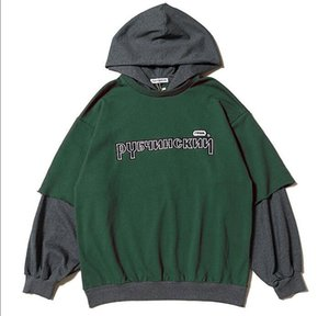 Gosha Rubchinskiy Men Women Autumn Winter Pullover hoodies Long Sleeve Sweatshirt Hip Hop Street Couple Stitching Sweater coat