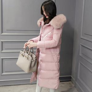 Women's 2020 Winter Coat Women high quality Fur Collar Hooded Warm Jacket Female Long Slim Down cotton Parka