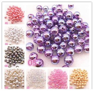 New 30pcs lot 10mm Mixed Shiny Ab Round Loose Plastic Spacer Beads For Jewelry Makeing Charms Pr qylyJD