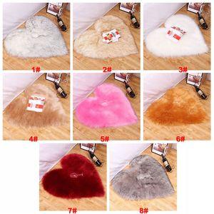 Chambre de moquette en peluche de bureau Soft confortable simple coussin moelleux tapis en forme de cœur épaissi coiffé de fourrure poilu antidérapante personnalisée VT1806