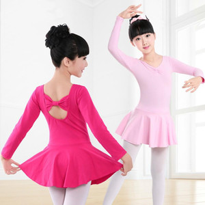 swan lake rhythmic long sleeves gymnastics leotard for girls ballet kids competition dance wear children tutu skirts dress