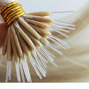 CE-Zertifikat-Großhandel benutzerdefinierte Farben Kunststoff I Tipp Haarverlängerungen Rohmaterial Ausgerichtetes Flex Nano-Spitzenhaar
