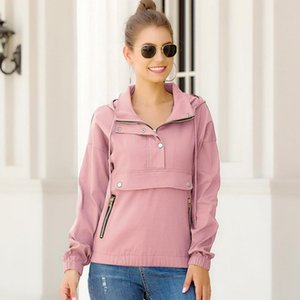 Winter Women Lapel Solid Color Handsome Motorcycle Clothing Metal Drawstring Pocket Zipper Tight Hooded Winter Coat