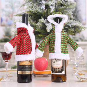Christmas decorations sweater bottle set old man clothes bottle dress up Christmas decoration supplies sweater wine #20