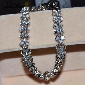 JUNXIN Luxury White Zircon Bracelet Cute Gold Filled Jewelry Vintage Wedding Bracelets For Women