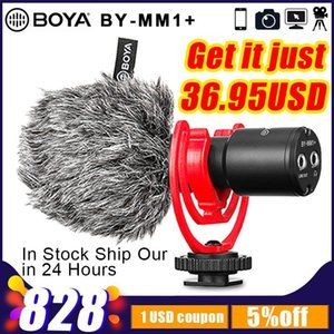 BOYA BY-MM1+ Video Record Microphone for DSLR Camera Smartphones Android canon nikon Osmo Pocket Youtube Vlogging Mic1