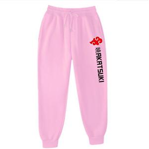 New brand fleece pants men women red trousers white Akatsuki print joggers Streetwear chandal hombre sweatpants jogging women