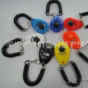 ABS Köpek Trainer 7 Renkler Evcil Eğitim Aracı Plastik Bilek Bant Düğmesi Clicker Siren TRACTable Pet Eğitmenler Köpekler Malzemeleri Kompakt 2 8sn M2