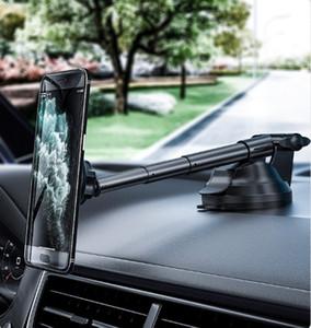 العالمي للمطاط سيارة جبل حامل الهاتف قابل للتعديل الزجاج الأمامي قابل للسحب حامل الهاتف مع قاعدة كأس الشفط