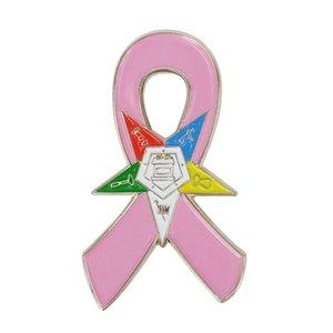 Рак молочной железы Awareness Восточной масонской площади Звезда OES и компас Cardinal Bird Гольф-клубы Бойцовский Cross Pink Ribbon Штыри отворотом