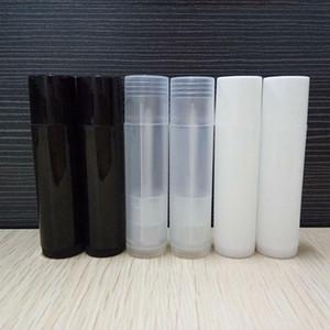 5g cosmetico tubo vuoto Chapstick Lip Gloss Rossetto balsamo e Caps contenitore bianco nero AHF1282 colore chiaro