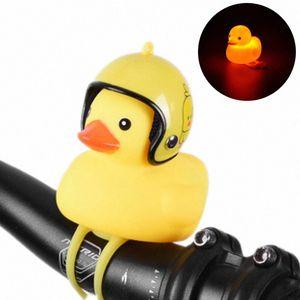 Bicycle Headlight Horn Cute Cartoon Night Riding Light Car Small Duck Light YS-BUY pBjl#