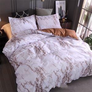 Taş Desen Yatak Seti Düz Çok Renkli Basitlik Yorgan Kapak Yastık Kılıfı Kraliçe Yatak Yorgan Setleri Sıcak Satış 42XQ K2