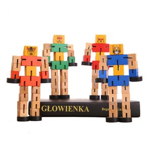 New product A hot seller of wooden morphing robots plays with model toys boys girls children educational autobots birthday presents