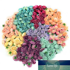 100pcs 3cm Mini Silk Artificial Rose Flowers Cloth For Wedding Party Home Room Decoration DIY Dress Accessories Fake Flowers