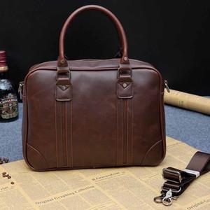 Men's business PU leather handbag briefcase mean handbag sacoche homme messenger bags laptop tote bag LJ200930